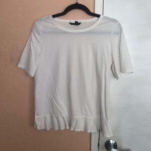 Banana Republic white peplum tshirt